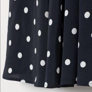 H&M Black and White Midi Skirt